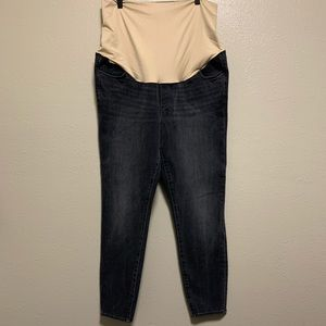 NWT! Loft dark gray full panel maternity jeans